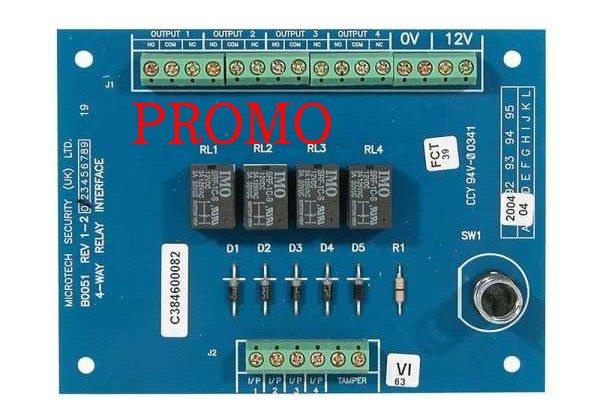 Module Interface 4 relais pour Galaxy Honeywell